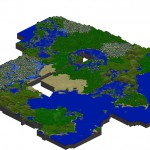 Résultat de l'un des logiciels cartographes (Minecraft map)