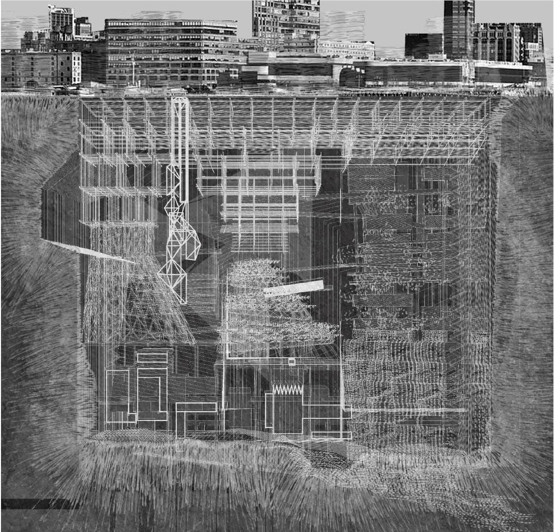 """Design architectural d'une """"Underground City"""", par Xinyang Chen"""