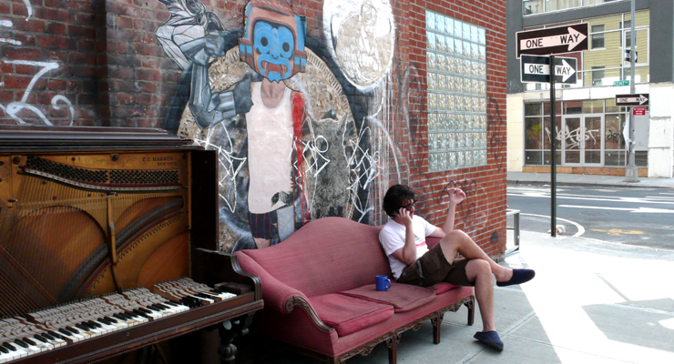 """Morning Coffee. Street Art. Music. Cigarettes"" - by Jaime Rojo)"