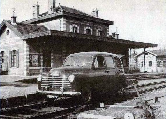 Renault Prairie transformée en draisine