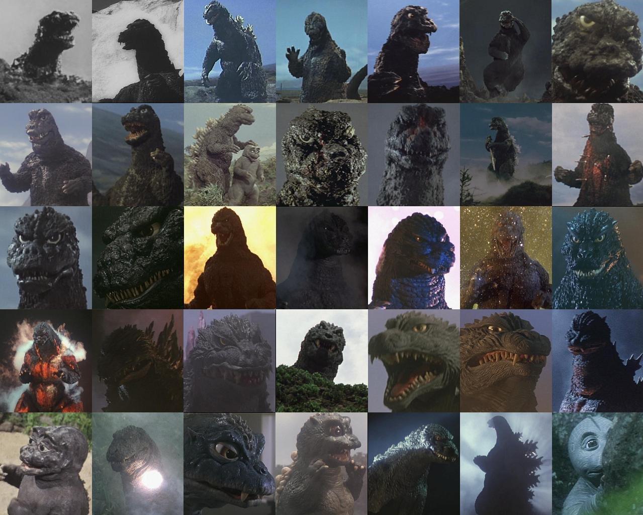 Godzilla_1954-2014_incarnations