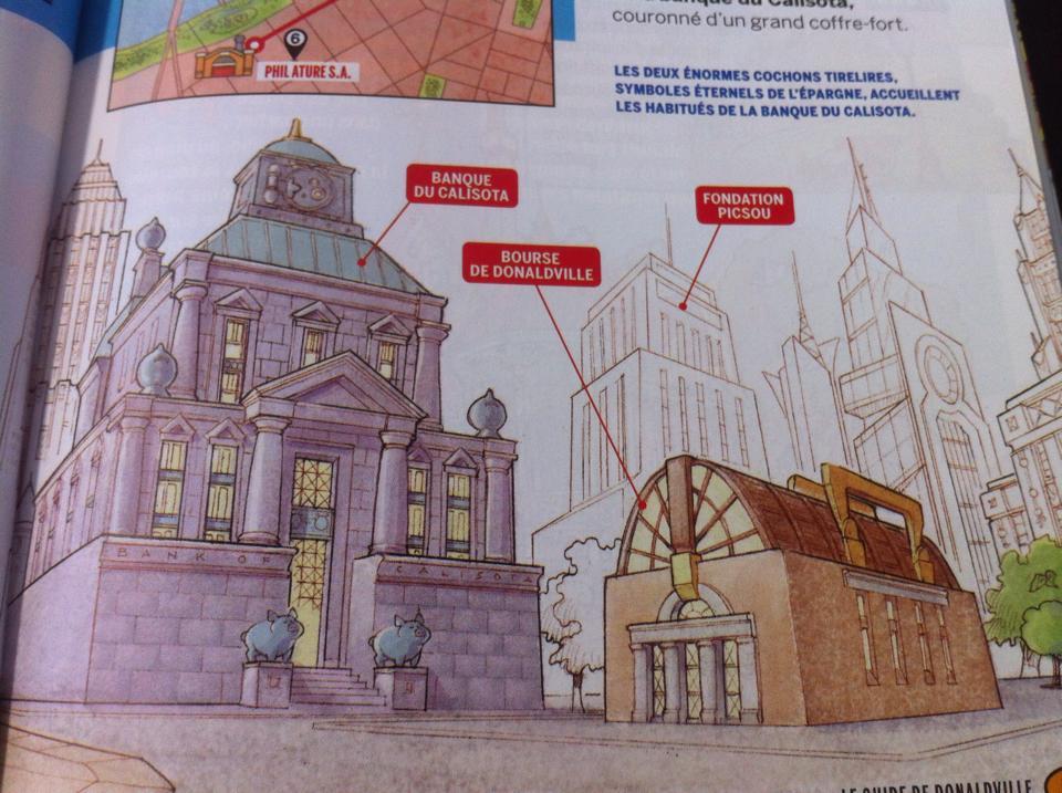 Donaldville et architecture-canard - La bourse et la banque