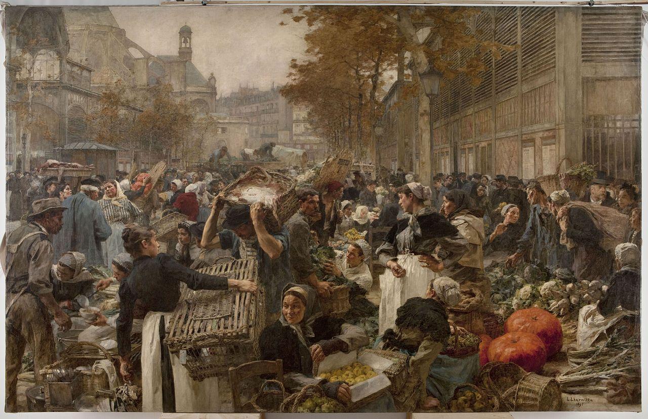 Les_Halles-Léon_Augustin_Lhermitte